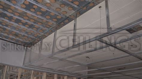 How To Build A Suspended Ceiling by Building Vertical Drywall Ceiling Drops Suspended
