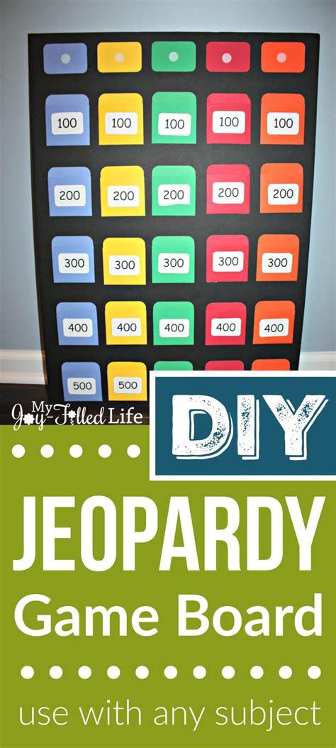 diy jeopardy game board my joy filled life