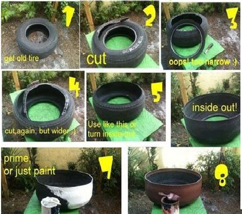 Home Decor Using Recycled Materials Tire Planter With Instructions Project Refresh