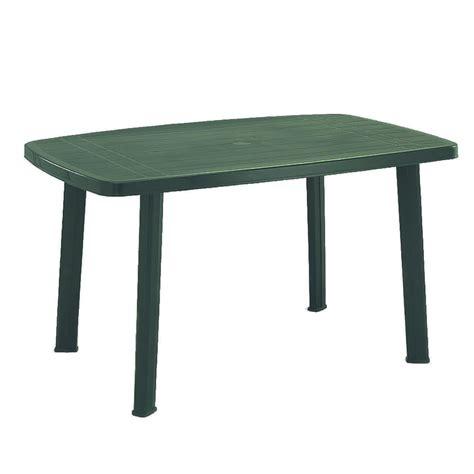 tavolo plastica giardino tavolo da giardino plastica faro colore verde rettangolare
