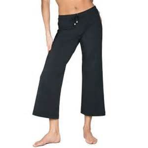 Relaxed fit drawstring yoga and fitness capri thisnext