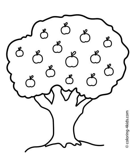 coloring page of a apple tree nature apple tree coloring page for printable free coloring pages apples