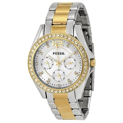 fossil s es3204 silver and gold tone
