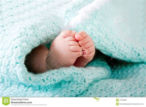 baby in blanket royalty free stock image image