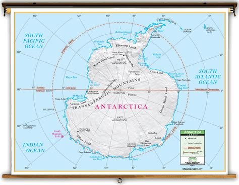 antarctica political map primary antarctica political classroom map on roller