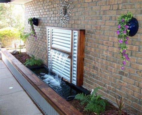 Garden Feature Walls 15 Exclusive Backyard Waterfall You Would Like To