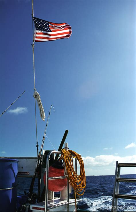 boat stern pics american flag on the boat stern photograph landscape