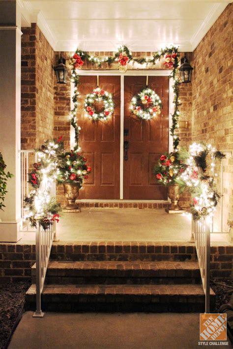 how to decorate a house with lights різдвяний декор входу в дім 60 фото ідеї декору