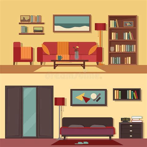 modern home design vector vector flat illustration banners set abstract for rooms of