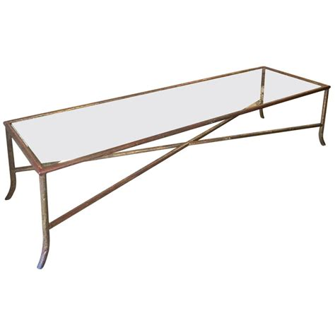 narrow bagues style faux bois coffee table at 1stdibs