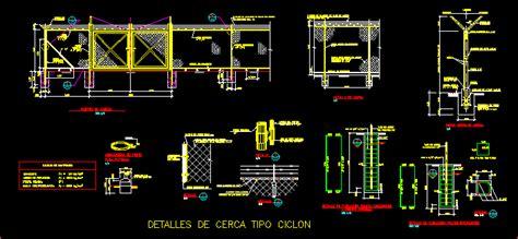 enclosure ciclon type dwg detail  autocad designs cad