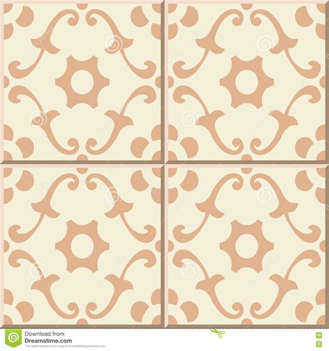 tile pattern round ceramic tile pattern curve spiral round flower stock