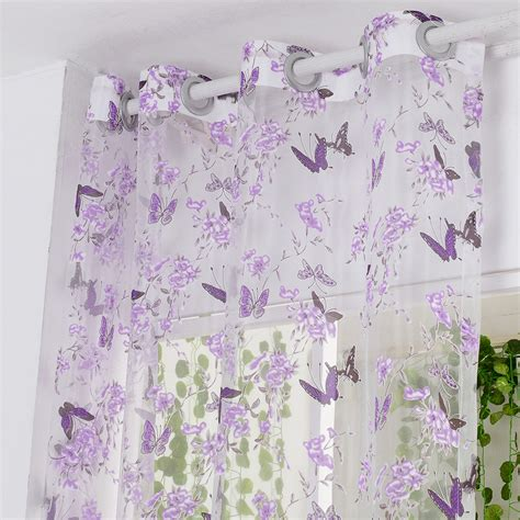 Purple Butterfly Curtains Fabric Black Picture More Detailed Picture About Isinotex Window Curtain Purple Butterfly