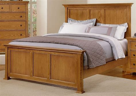 Forsyth Medium Oak Panel Bedroom Set From Vaughan Bassett Medium Oak Bedroom Furniture