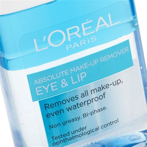 Loreal Eye And Lip Makeup Remover l oreal absolute eye lip makeup remover 125ml from ocado