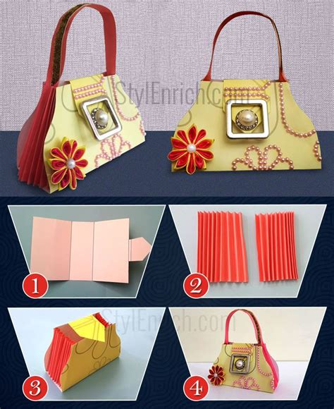 Steps Of Paper Bag - diy paper gift bags how to make easy paper bag for your