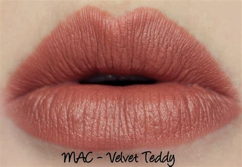 Mac Lipstick Velvet Teddy mac lipsticks velvet teddy kinda and swatches