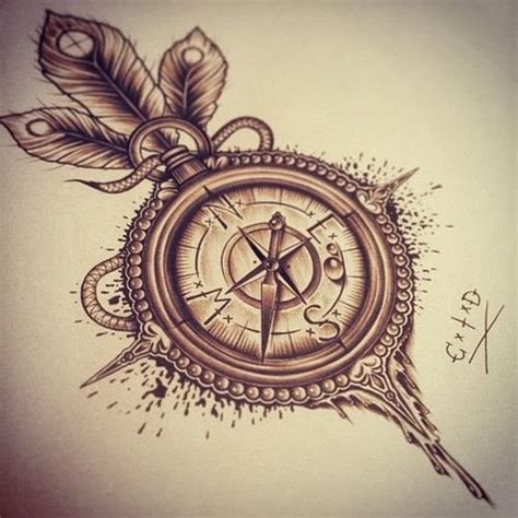 compass tattoo tumblr gallery for cool compass designs
