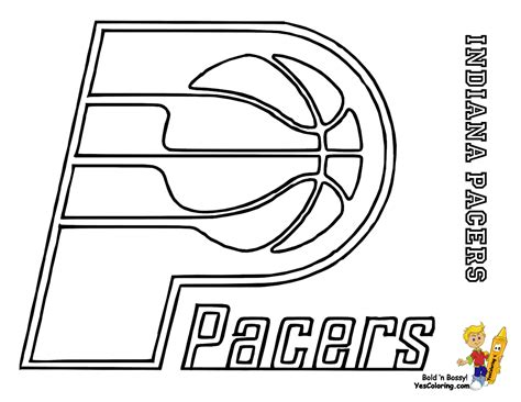 Indiana Pacers Coloring Page | nba coloring pages