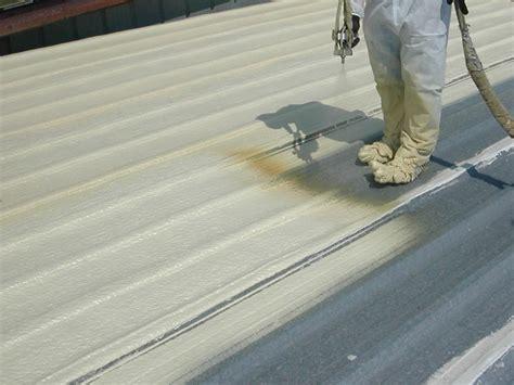 foam roof spray foam roofing stops roof leaks on a metal commercial