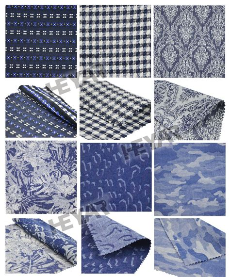Patchwork Design Fabric - patchwork design chambray woven fabric jacquard cotton