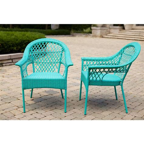 hton bay stacking patio chair 2 pack d9544 d2
