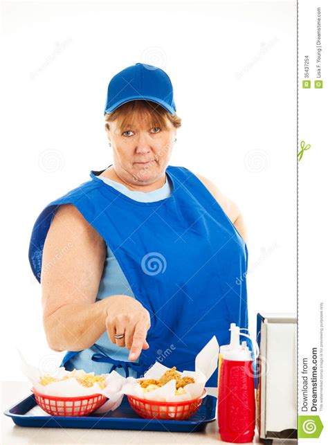 fast food cashier no nonsense stock images image 35437254