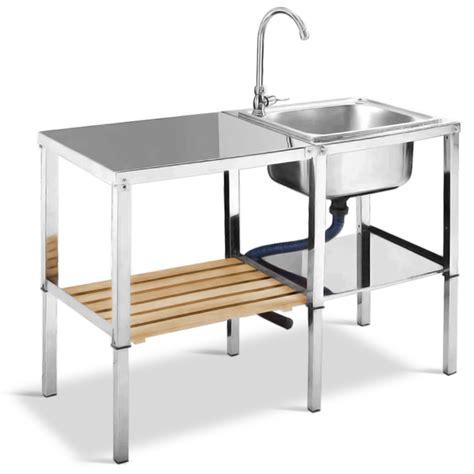 outdoor k che mit waschbecken mobiles waschbecken sp 252 le edelstahl waschtisch