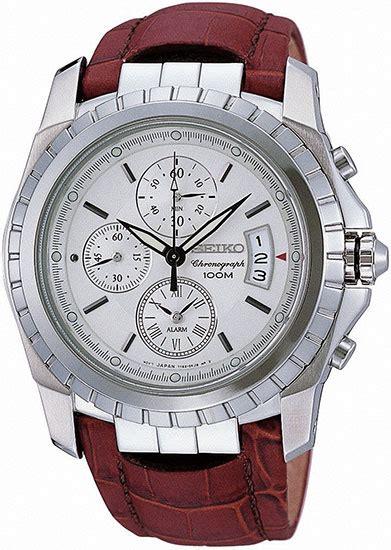 Seiko Velatura Silver Combi White Brown Leather 1 seiko snaa55 mens stainless steel alarm chronograph