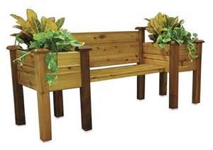 cedar planter bench the green