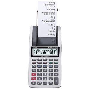 Calculator Printing Casio Hr 8tm casio 12 digit printing calculator grey hr 8tm officeworks