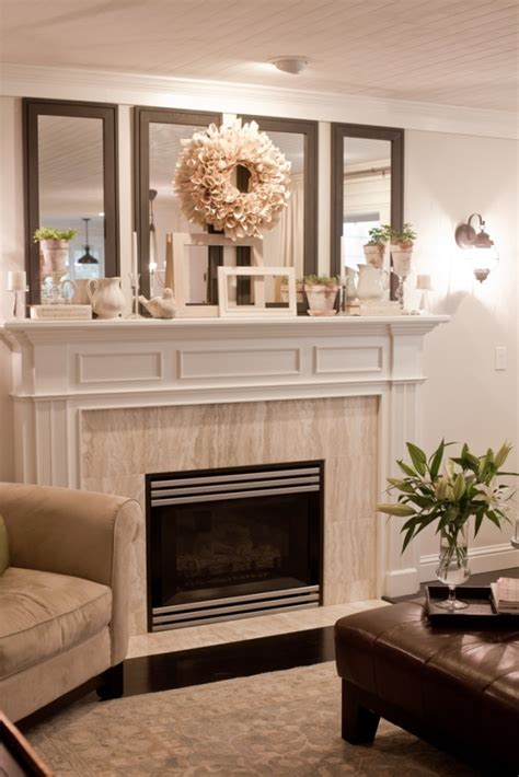 mirror fireplace fireplace mantle the 4 vertical mirrors i need to
