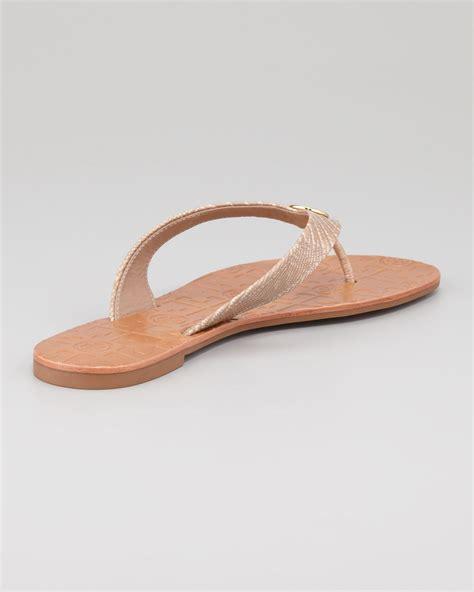 burch thora sandals burch thora 2 lizardprint sandals in brown lyst