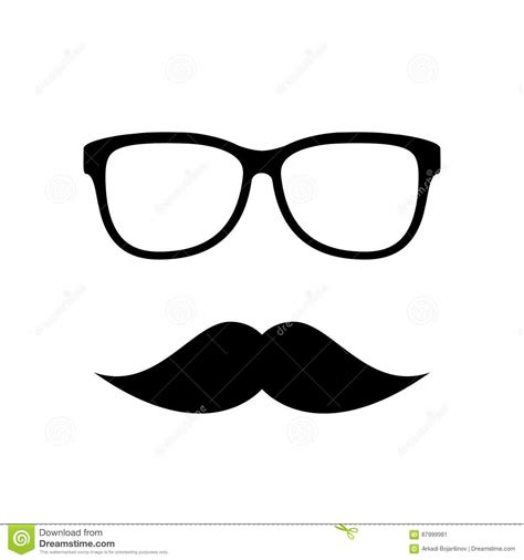 imagenes gafas vintage hipster vector icon eyeglasses and mustaches stock vector