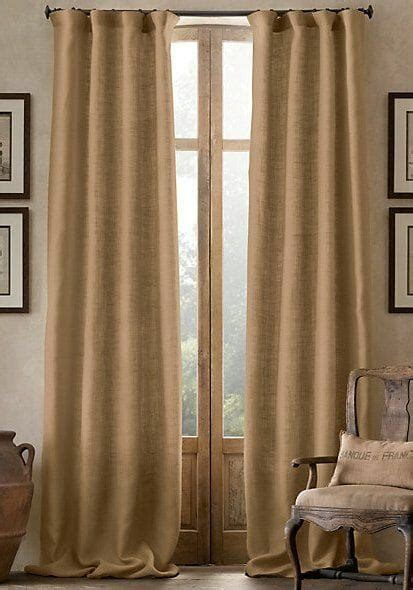 Burlap Drapes And Curtains Trend Alert Burlap Curtains Modernize