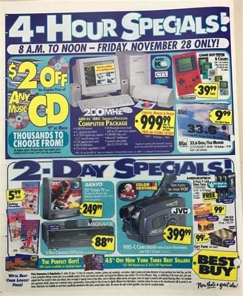 best buy black friday best buy black friday ad from 1999 and 18 more fascinating