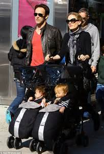 Anna paquin and stephen moyer take their twins poppy and charlie on a