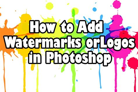 how to insert pattern in photoshop cs6 how to add watermarks or logos in photoshop cs6 youtube