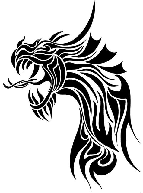 tribal chinese dragon head www pixshark com images
