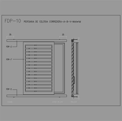 persiana dwg cad projects especificaciones norma nte fdp fachadas