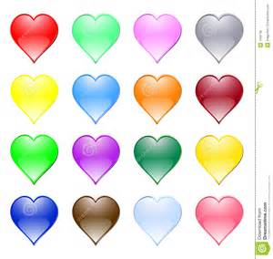 colored hearts multi coloured hearts royalty free stock image image