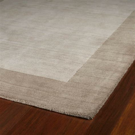 Solid Border Rug In Ivory Rosenberryrooms Com Solid Rugs
