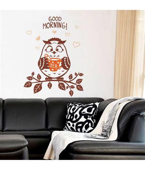 Wall Sticker Ay9006 60x90 stickerskart wall stickers wall decals morning owl 6420 60x90 cms buy stickerskart wall