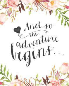 Wedding Journal Quotes by Wedding Day Quote Quot And So The Adventure Begins