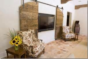 Sliding Barn Door Tv Cover The Well Tv Clever Disguises For That Big Black Box Driven By Decor