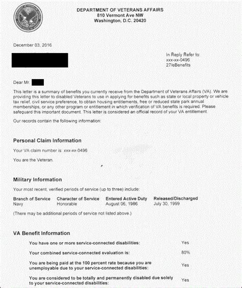 Proof Of Disability Letter Va unique va benefits award letter how to format a cover letter