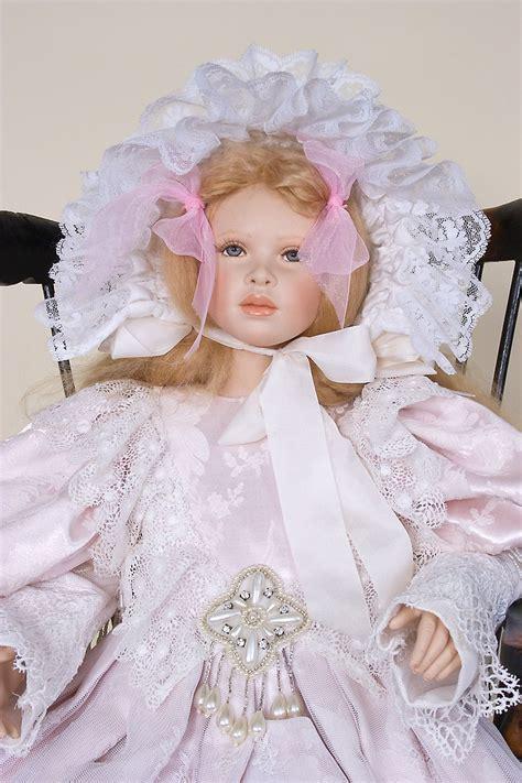 victorian shadows porcelain soft body art doll  cindy koch