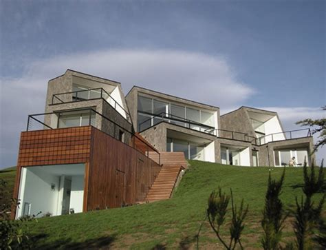 houses built on slopes sloping house or aftermath of a huge stone avalanche