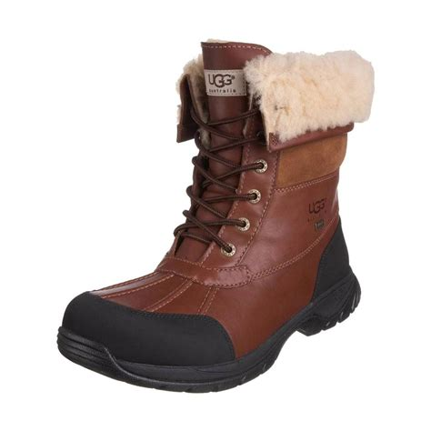 ugg mens winter boots ugg boots mens butte leather weatherproof winter boots