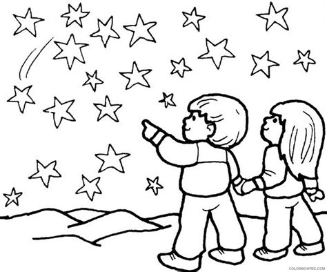 starry night coloring book page star coloring pages starry night coloring4free